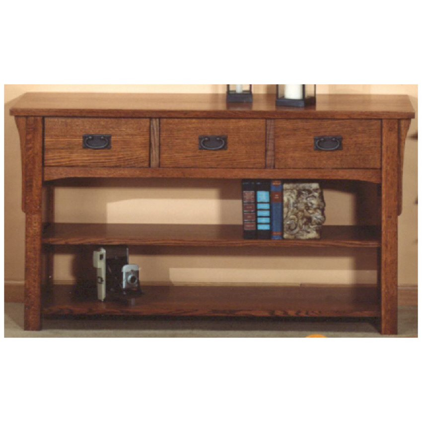 Occasionals 3 Drawer Mission Sofa Table