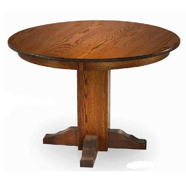 Tables Mission Style Round Table - Mission style round end table